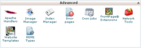 cPanel Advanced Area