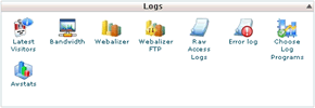 cPanel Logs Area